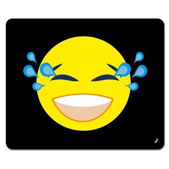 Emoticons Tapis De Souris Emoji Smiley Pleure De Rire 19x23 Cm