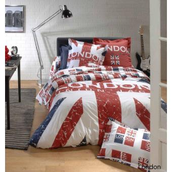 Parure De Lit 200x200.Parure De Lit 200x200 Cm 100 Coton London Union Jack