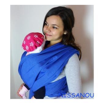 NISSANOU porte bébé ECHARPE DE PORTAGE neuve BLEU DUR idée cadeau naissance  - Echarpes de Portage - Achat   prix   fnac 1bd6d5dd799