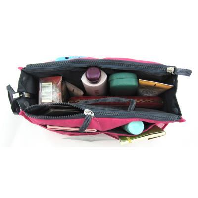 Periea OrganiseurOrganisateur de sac à main, 12 Compartiments Chelsy (Rose brillant, Moyen)