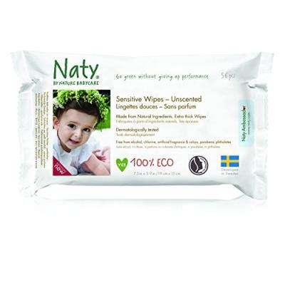 Naty 12 packs de 56 lingettes douces ecologiques sans parfum