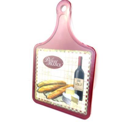 Les Trésors De Lily [M4888] - Planche à découpe 'Terroir Français' vin et fromage (30x20 cm)