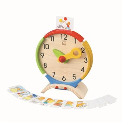 Horloge en bois Plan Toys