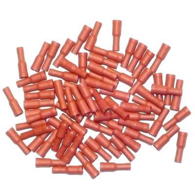 Cosses Electriques Femelles Rondes Rouges De 4 Sachet De 75 Cosses