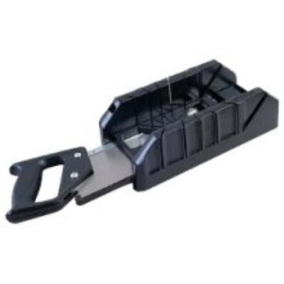 Stanley - Boîte à onglet plastique + scie à dos