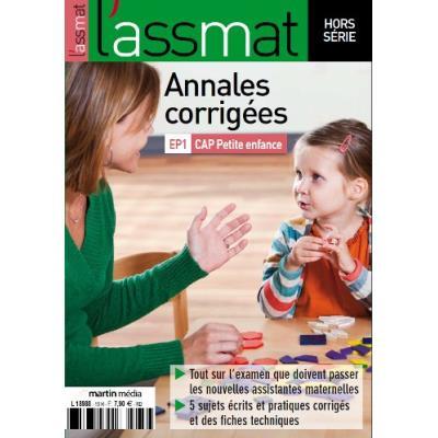 Annales corrigées EP1 CAP Petite enfance édition 2017