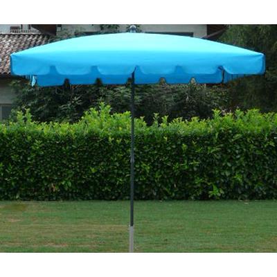 Parasol rectangulaire centré coloris Turquoise - Dim : H 250 x D 240 x 160/4 cm-PEGANE-