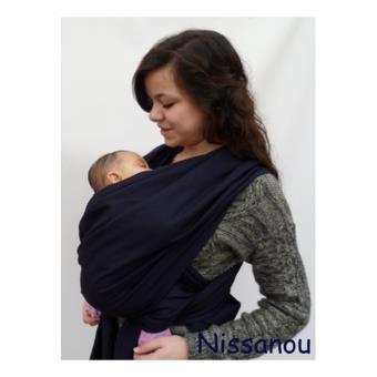 NISSANOU porte bébé ECHARPE DE PORTAGE neuve MARINE idée cadeau naissance -  Echarpes de Portage - Achat   prix   fnac 51210a635e1