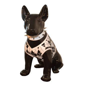 animart statue chien bull terrier sculpture en resine deco maison jardin 41 x 44 x 24 cm. Black Bedroom Furniture Sets. Home Design Ideas