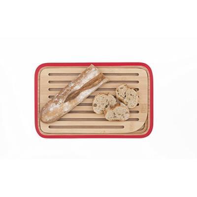 Pebbly nba038 petite planche à pain de table bambou orange 28 x 18 cm