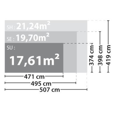 MADEIRA - Abri de jardin bois 17m2 - 28 mm - ORCHIDEE - Achat ...