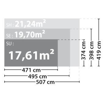 MADEIRA - Abri de jardin bois 17m2 - 28 mm - ORCHIDEE - Achat & prix ...