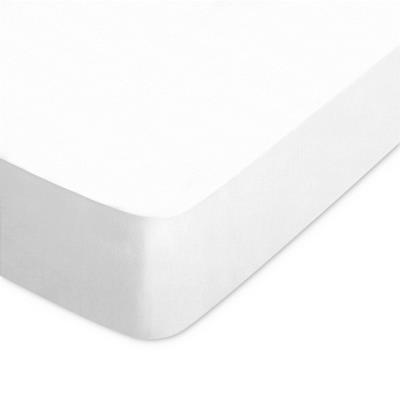 Drap housse uni 60x120 cm 100% coton ALTO Blanc
