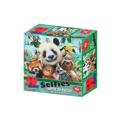 Prime 3D puzzle 3D enfants Zoo 63 pièces