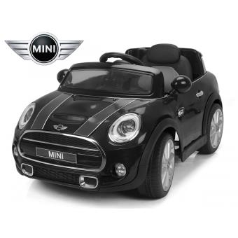 voiture lectrique enfant 12v mini cooper s noir peinte si ge simili cuir avec t l commande. Black Bedroom Furniture Sets. Home Design Ideas