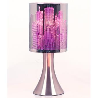 Lampe A Pied New York Touch Metal Violet Achat Prix Fnac