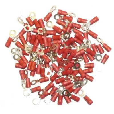 Cosses Electriques A Oeil De 4 Rouges Sachet De 100 Cosses