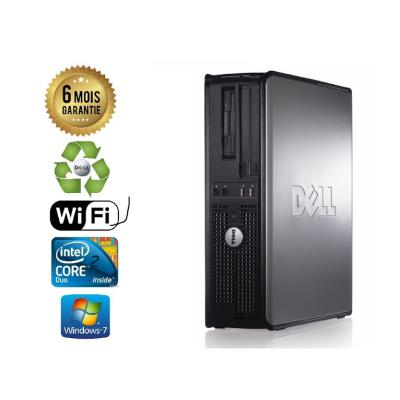 Unite Centrale Dell 780 SFF Core 2 Duo E7500 2,93Ghz Mémoire Vive RAM 6GO Disque Dur 500 GO Graveur DVD Windows 7 Wifi - Processeur Core 2 Duo E7500 2,93Ghz RAM 6GO HDD 500 GO