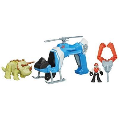 Jurassic world - b05364000 - figurine cinéma - dlx véhicule - hélicoptère