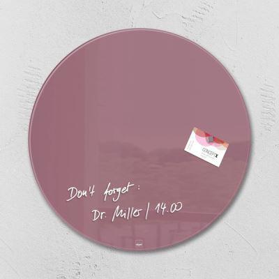 Sigel SI-GL292 Panneau magnétique en verre Artverum 400x400x15mm Rond Rouge