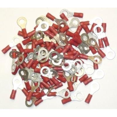 Cosses Electriques A Oeil De 6 Rouges Sachet De 100 Cosses