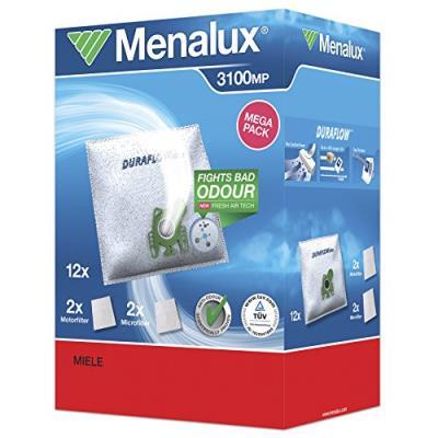 Menalux 3100 mp 12 sacs aspirateur avec 2 micro filtres