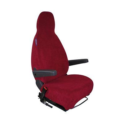 Housse de sièges éponge coton extensible bordeaux