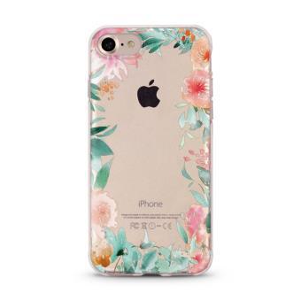 Coque iphone 7 fleur 15 fleur rose pastel tropical