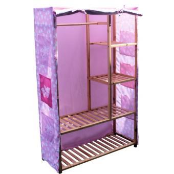 penderie armoire de rangement disney princesses structure bois d coration de chambre. Black Bedroom Furniture Sets. Home Design Ideas