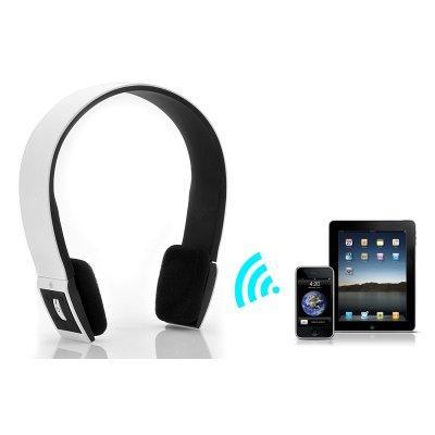 Casque audio sans fil Bluetooth 3.0 son stéréo blanc micro intégré