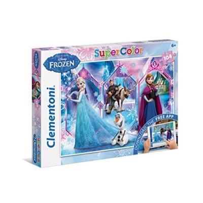 Puzzle 104 pièces - la reine des neiges