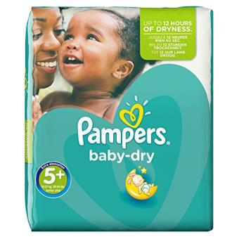 Pampers Baby Dry Couches Taille 5 13 27 Kg Pack économique