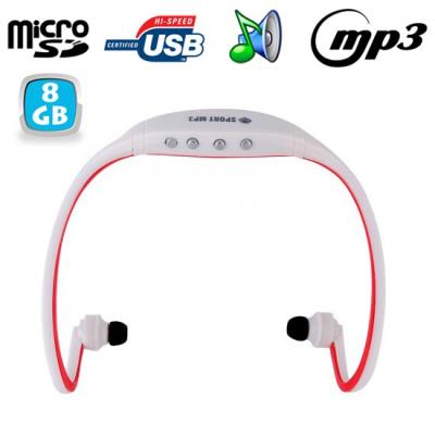 Grâce à ce casque MP3 sportsans fil, vos séances de sport s'effectueront au rythme de vos musiques préférées!Si comme la plupart des sportifs amateurs ou professionnels, la musique vous est essentielle pour réaliser vos sessions de sport, alors ce casq