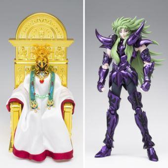 Pack Figuras Los Caballeros del Zodiaco -Caballero de Oro de Aries Shion + Sumo Pontífice del Santuario de Atenea