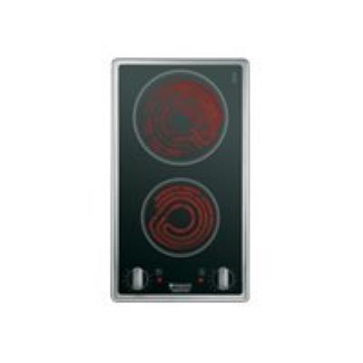 Hotpoint Ariston DK 2K (IX) /HA vitrocéramique - 30 cm - noir - vitrocéramique - avec garnitures en acier inoxydable