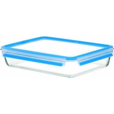 Emsa 513922 clip & close boîte alimentaire rectangulaire verre polypropylène tpe 3 l