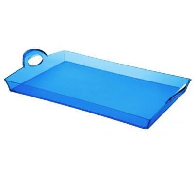 Guzzini 21280176 plateau rectangulaire bleu méditerranée 8,7 x 54 x 33,5 cm