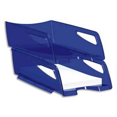 Maxi corbeille à courrier 220H HAPPY de coloris Bleu électrique