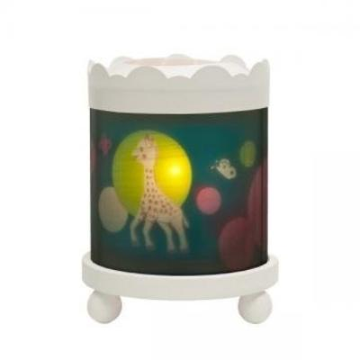 sophie the giraffe trousselier merry go round lantern (white)
