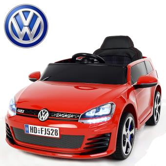 petite voiture lectrique enfant volkswagen golf gti 12v roues led rouge peinte v hicule. Black Bedroom Furniture Sets. Home Design Ideas