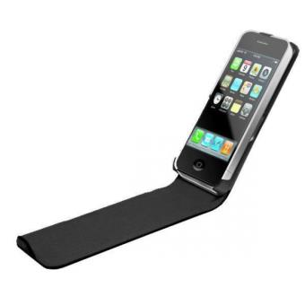 Etui Coque de Protection avec Rabat Noir iPhone 4 4S pour le Apple iPhone 4