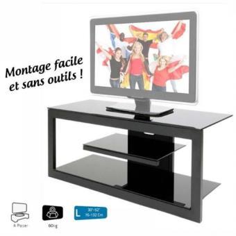 erard meuble tv 3 plateaux aizi 035263 noir meuble tv achat prix fnac. Black Bedroom Furniture Sets. Home Design Ideas