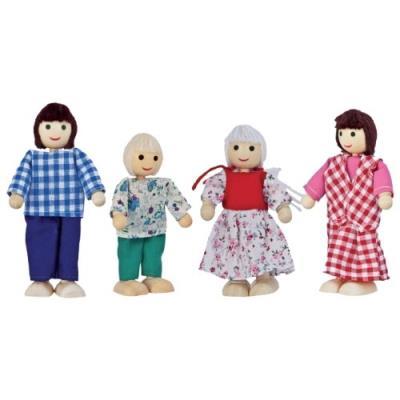 Eichhorn - set de poupées famille (en bois et tissu) - ref. 10 000 2500