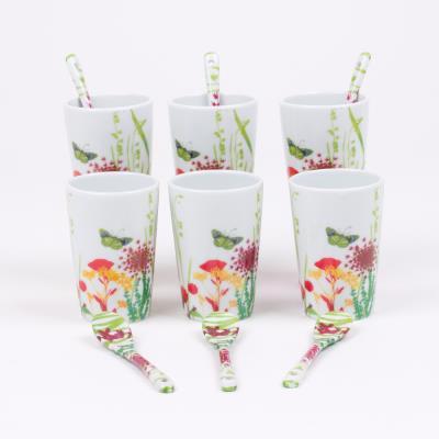 Table Passion - 6 Gobelets + Cuilleres Tutti Fiori