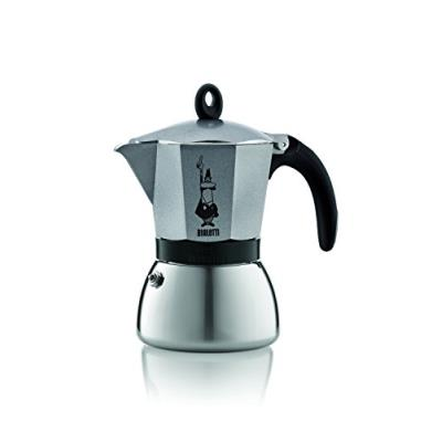 Bialetti - Cafetiere Moka Induction 6 Tasses Anthracite