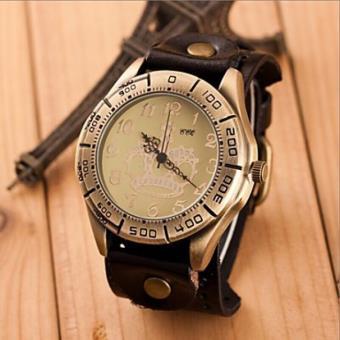 Montre Vintage En HommesStyle Quartz Bracelet Analogique Et À Cuir kX08nPwZNO