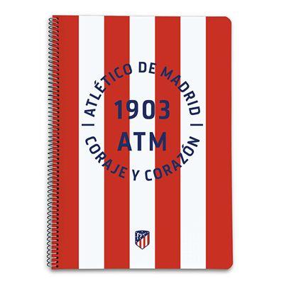 Cahier A4 á Couverture Rigide Athléte De Madrid