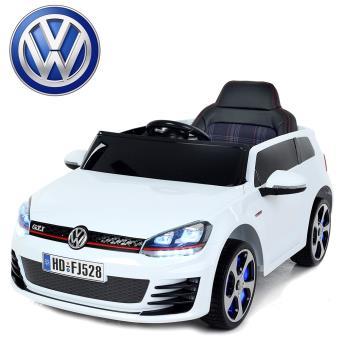 voiture lectrique enfant volkswagen golf gti 12v roues led blanche peinte v hicule lectrique. Black Bedroom Furniture Sets. Home Design Ideas