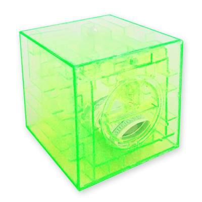 Tirelire casse-tête labyrinthe transparent