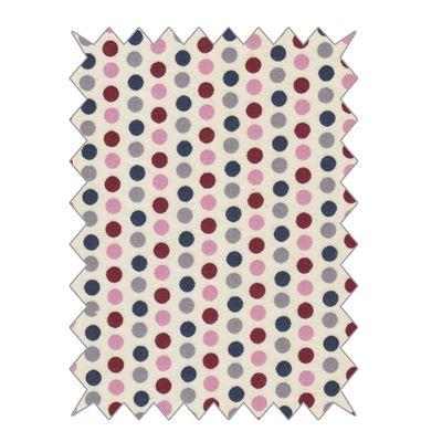 Coupons de tissu en coton à pois multicolore 100x70cm - rayher